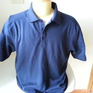 NIKE Golf Dri Fit navy blue polo - mens medium